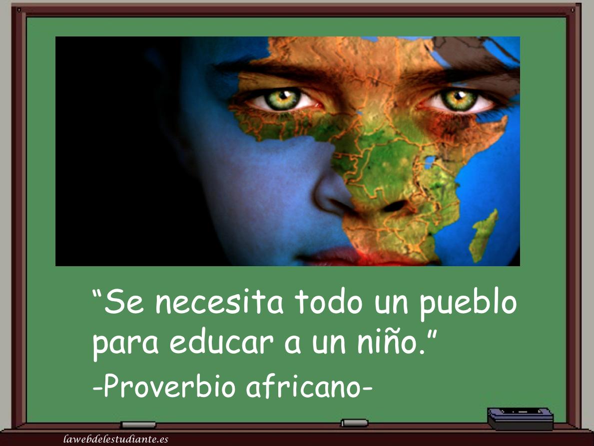 """todo un pueblo para educar a un niño.""""la web del estudiante"""