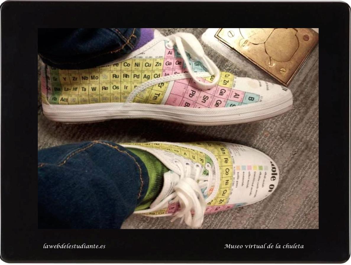 Zapatillas estampadasla web del estudiante con estas originales zapatillas con la tabla peridica urtaz Images
